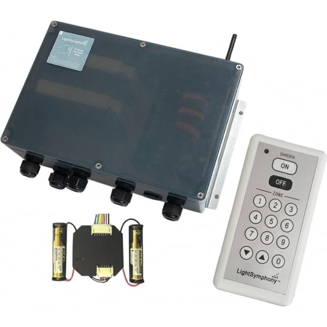 Light Symphony Remote Control 4 Channel Starter Kit (with 9 zone remote and wall switch)