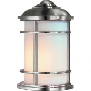 Lighthouse Half Wall Lantern Brushed Steel