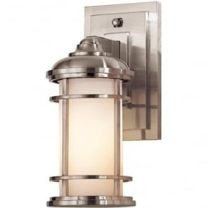Lighthouse Small Wall Lantern Brushed Steel