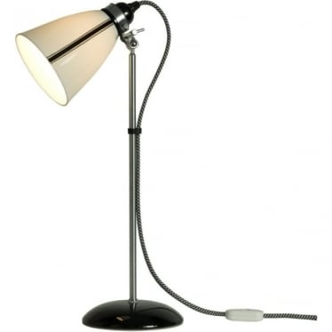 Linear Medium Table Light - Black and White Stripe