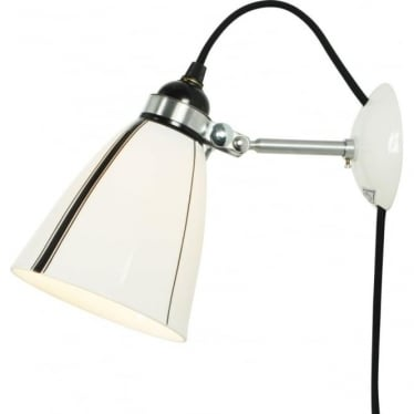 LINEAR WALL LIGHT  PLUG, SWITCH & CABLE - black and White Stripes