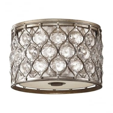 Lucia Flush Mount Fitting Burnished Silver