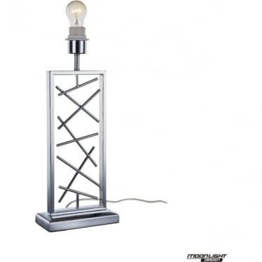 Lucie Table Lamp Chrome