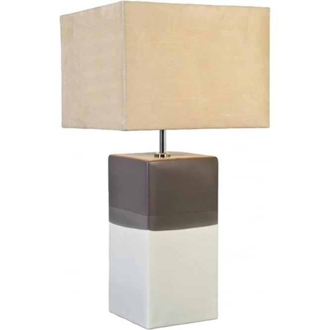 Elstead Lighting Lui's Collection Alba Cream/Grey Table Lamp - Base only