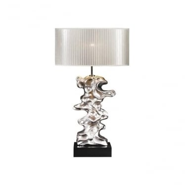 Lui's Collection Libero Silver Leaf Table Lamp - Base only