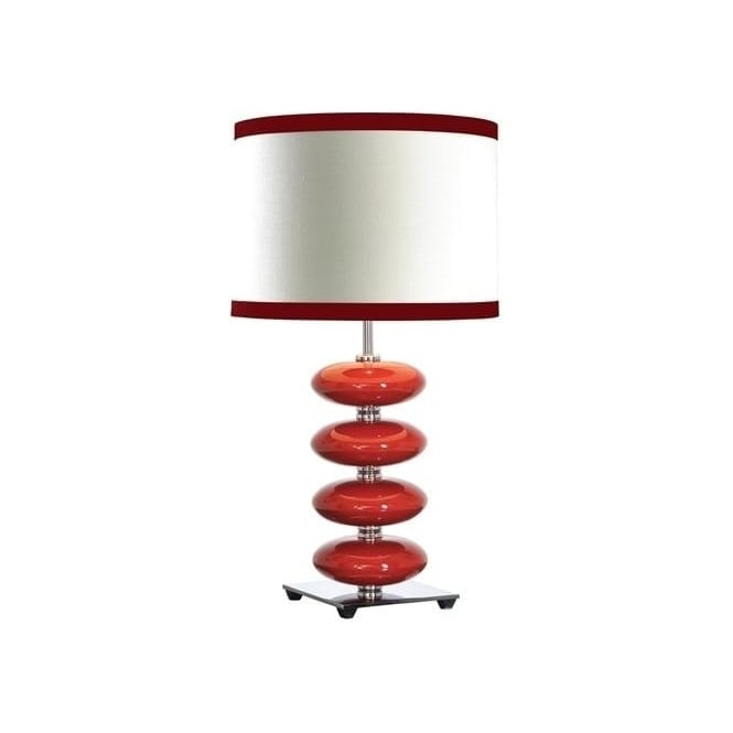 Elstead Lighting Luiu0027s Collection Onyx Red Table Lamp   Base Only