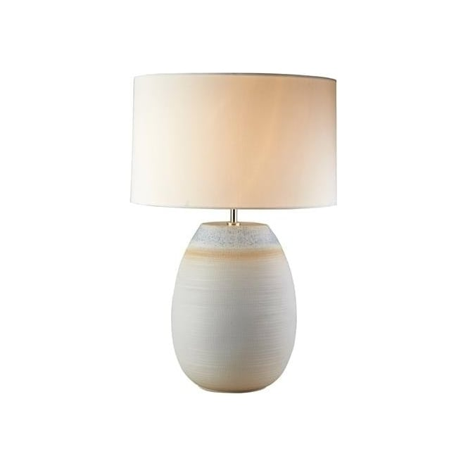 Elstead Lighting Lui's Collection Seychelles Off White Textured Lamp - Base only
