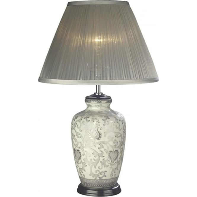Elstead Lighting Lui's Collection Silver Thistle Table Lamp - Base only