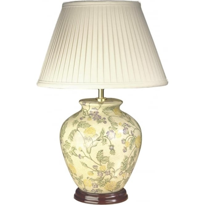 Elstead Lighting Lui's Collection Yellow Purple Flowers Table Lamp - Base only