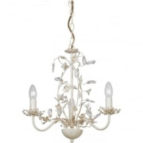 Lullaby 3 Light Pendant - Cream Brushed Gold, Clear & Pearl Acrylic