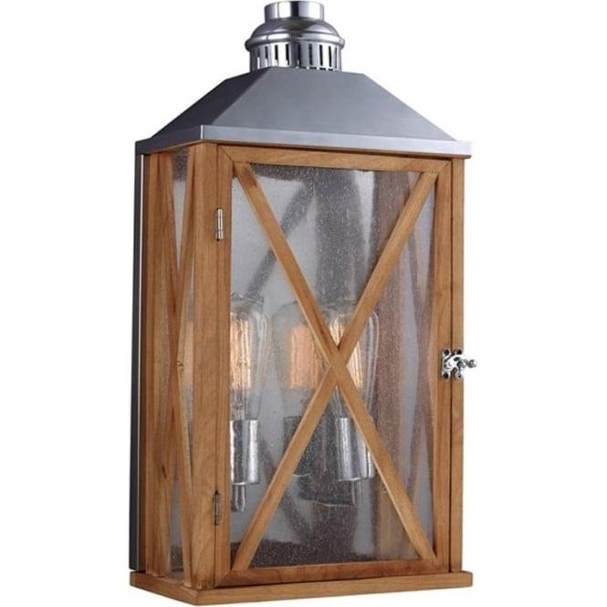 Feiss Lumiere medium wall lantern - Oak