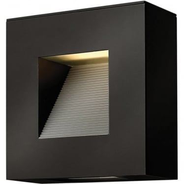 Luna Square Wall Light Satin Black