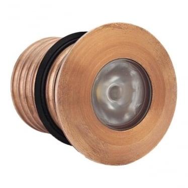 Modux 1 watt - Round Recessed - Copper