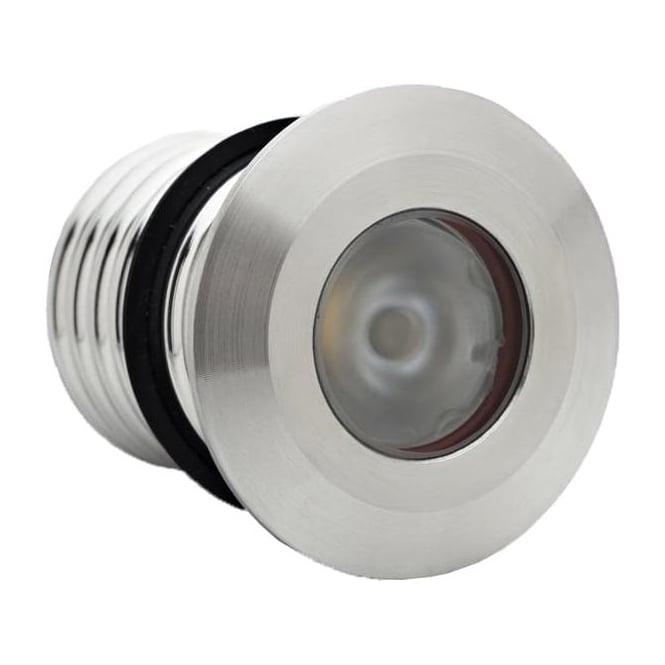 LuxR LED lighting Modux 1 watt Round Recessed Stainless Steel