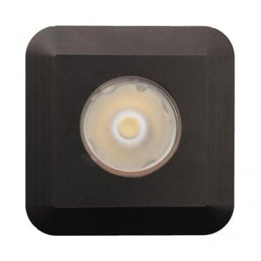 Modux 1 watt with Square Recessed Black