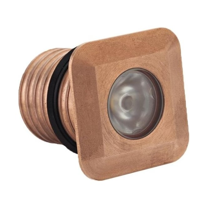 LuxR LED lighting Modux 1 watt with Square Recessed Copper