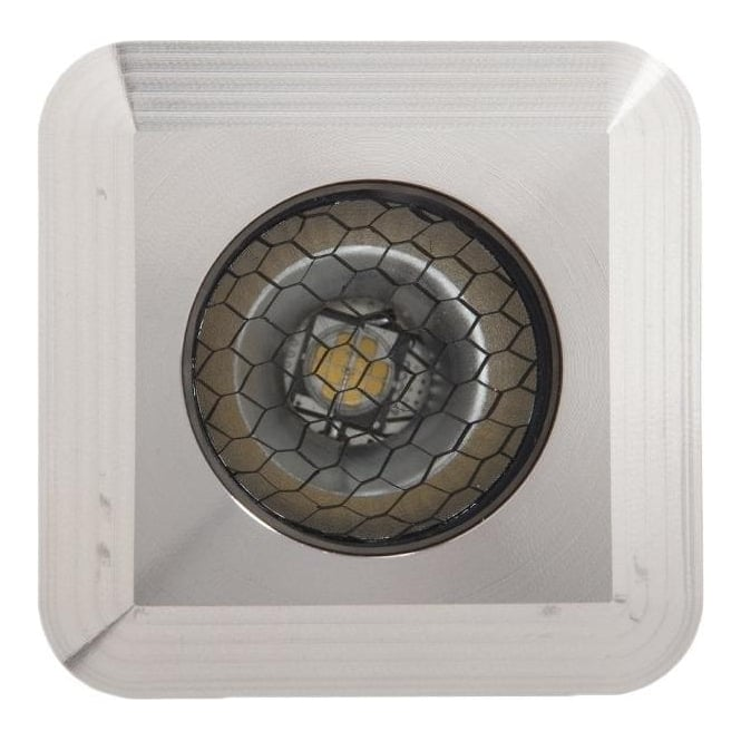 LuxR LED lighting Modux 2 Watt - Square Recessed - Stainless Steel