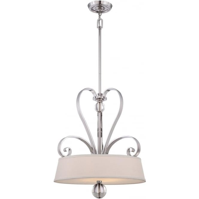 Quoizel Madison Manor 4 light Pendant Imperial Silver