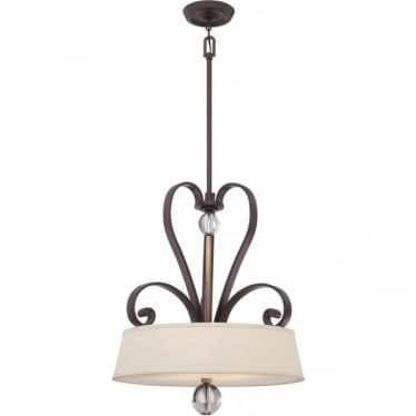 Madison Manor 4 light Pendant Western Bronze