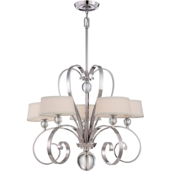 Quoizel Madison Manor 5 light Chandelier Imperial Silver