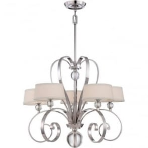 Madison Manor 5 light Chandelier Imperial Silver