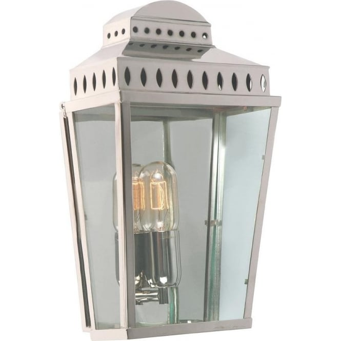 Elstead Lighting Mansion House Wall Lantern - Polished Nickel