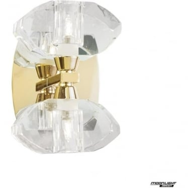 Alfa 2 Light Wall Fitting Switched French Gold