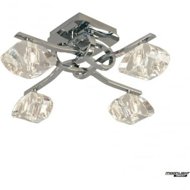 Alfa 4 Light Ceiling Fitting Polished Chrome