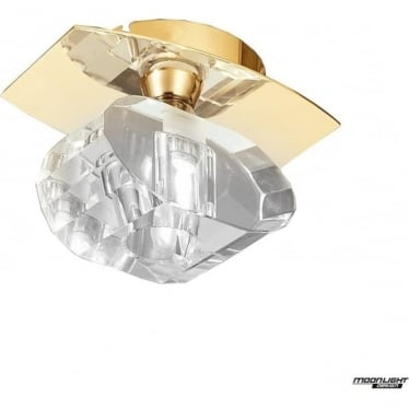 Alfa Single Light Ceiling Fitting French Gold
