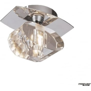 Alfa Single Light Ceiling Fitting Polished Chrome