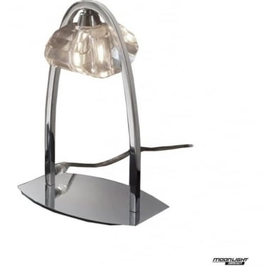 Alfa Single Light Large Table Lamp Polished Chrome