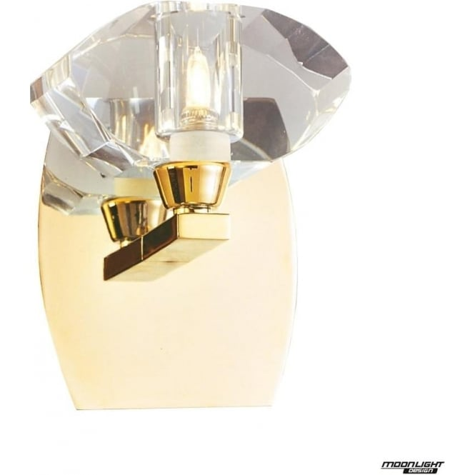 Mantra Alfa Single Light Wall Fitting Switched French Gold