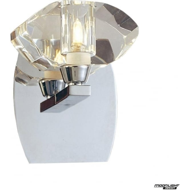 Mantra Alfa Single Light Wall Fitting Switched Polished Chrome