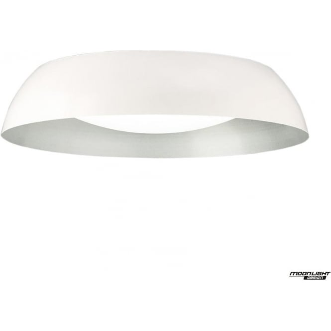 Mantra Argenta Ceiling Large LED Fitting White/Silver