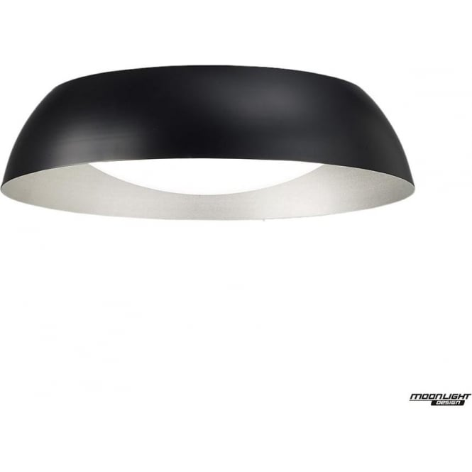Mantra Argenta Ceiling Small LED Fitting Black/Silver