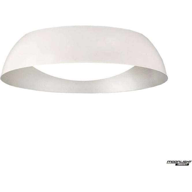 Mantra Argenta Ceiling Small LED Fitting White/Silver