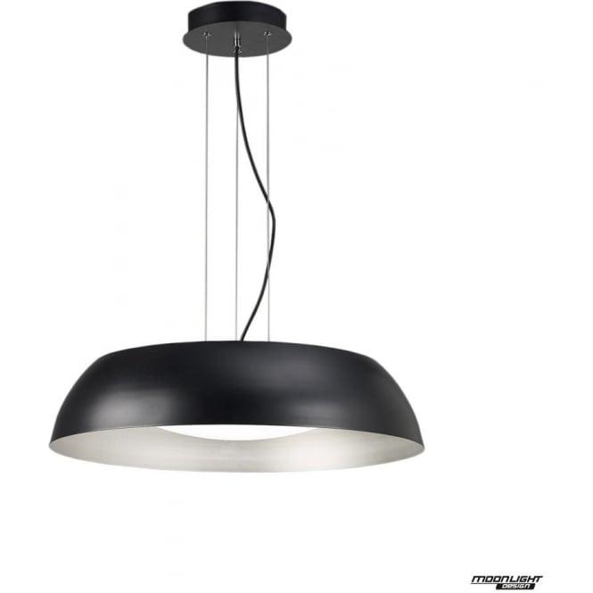 Mantra Argenta Pendant Large LED Black/Silver