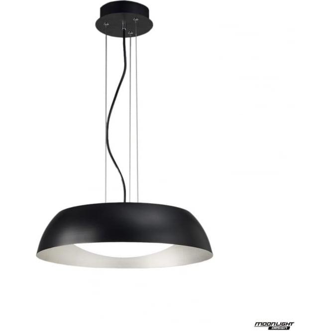 Mantra Argenta Pendant Small LED Black/Silver