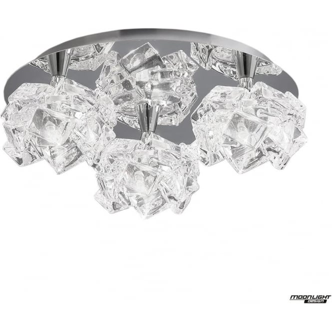 Mantra Artic 3 Light Ceiling Fitting Round Small Polished Chrome