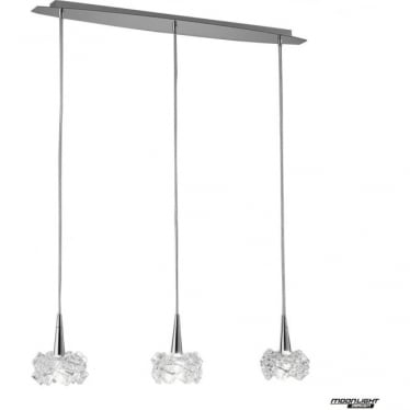 Artic 3 Light Line Pendant Small Polished Chrome