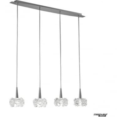 Artic 4 Light Line Pendant Polished Chrome