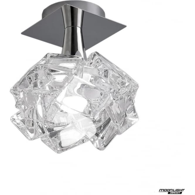 Mantra Artic Single Light Ceiling Fitting Large Polished Chrome