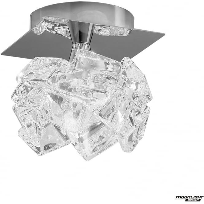Mantra Artic Single Light Ceiling Fitting Small Polished Chrome