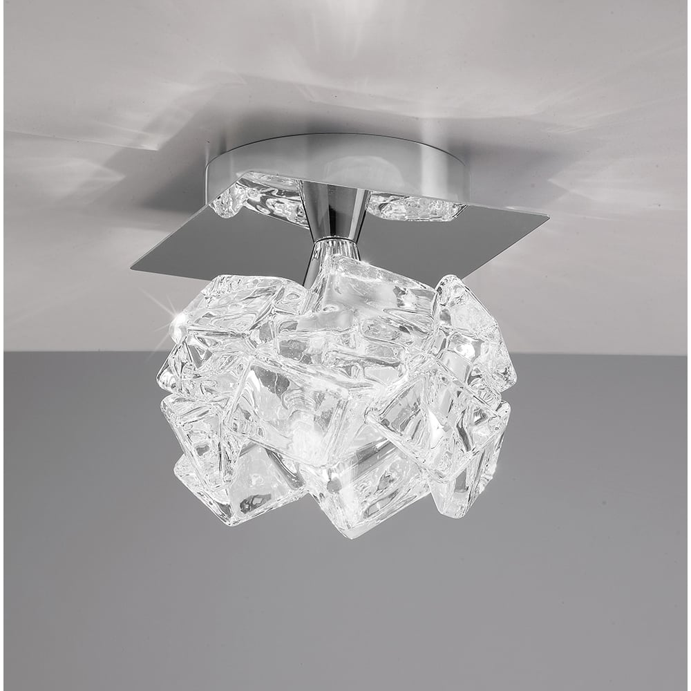 Artic Single Light Ceiling Fitting Small Polished Chrome