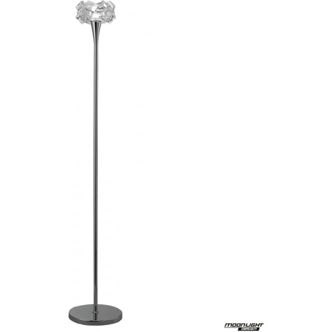 Mantra Artic Single Light Floor Lamp Polished Chrome
