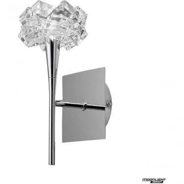 Artic Single Light Wall Fitting Switched Polished Chrome