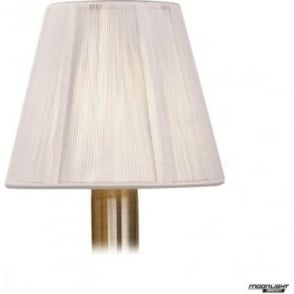 Clip On Silk String Shade Ivory White 130mm