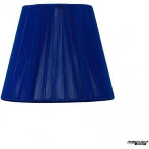 Clip On Silk String Shade Midnight Blue 130mm
