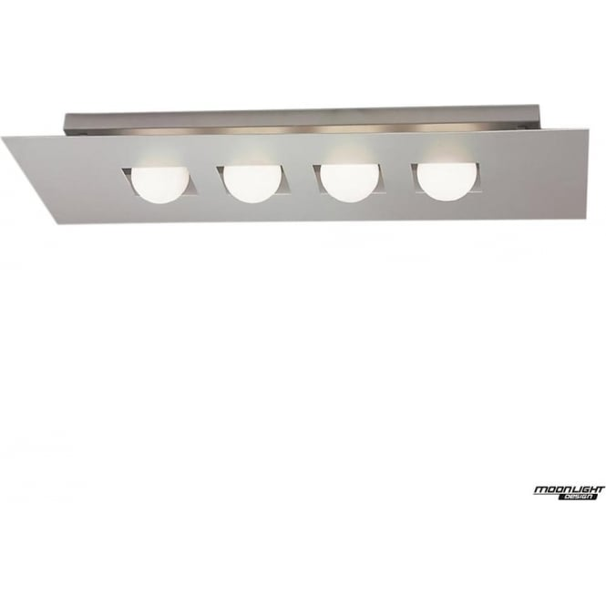 Mantra Cocoon 4 Light Line Flush Ceiling Fitting Silver