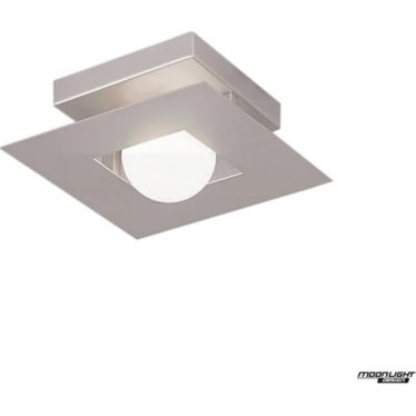 Cocoon Single Light Flush Ceiling Fitting Silver